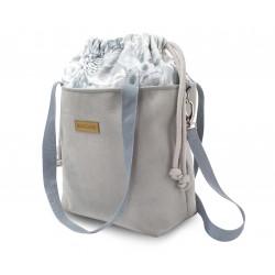 EKO LEATHER GREY LEATHER Handbag+ HANDLES