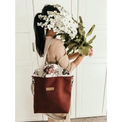 EKO LEATHER Burgundy Handbag