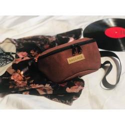 Kidney sachet eco burgundy leather