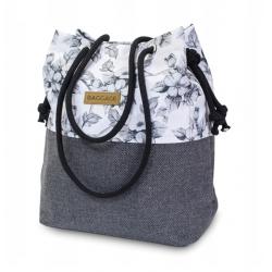 Black and White Flowers Handbag