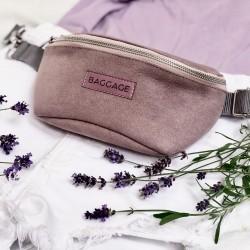 Kidney sachet eco lilac leather