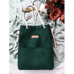 Bag with pockets bottle green