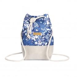 PLECAK-TOREBKA 2w1 Niebieskie Kwiaty