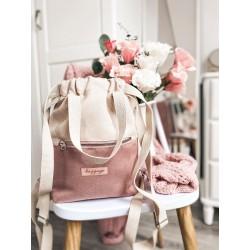 Plecak Ella pudrowy róż
