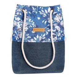 Torebka w niebieskie kwiaty