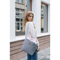 Handbag Bag Grey-Pink