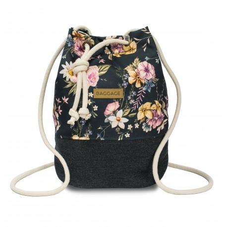 BACKPACK-HANDBAG 2in1 LEN VINTAGE FLOWERS