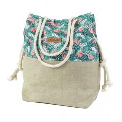 Handbag Bag Flamingos On Palms